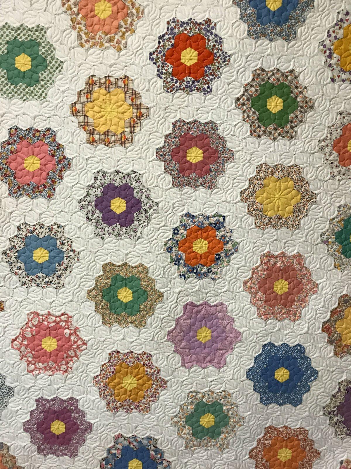 Grandmother's Flower Garden close up