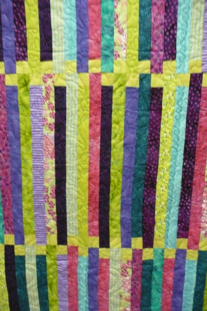 Green and Purple Baby Quilt