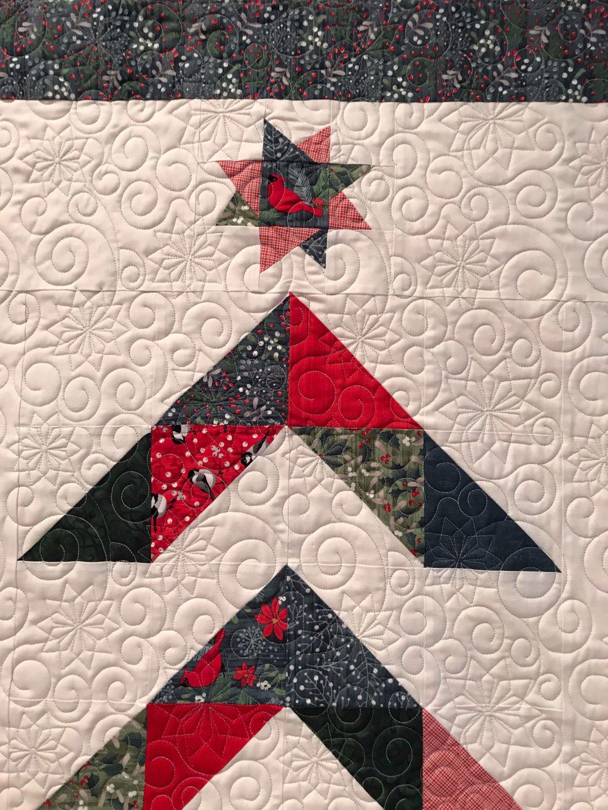 Modern Christmas Tree close up