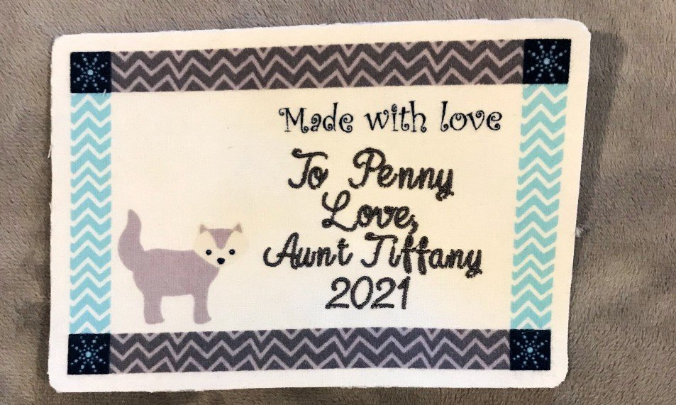 Baby Penny label