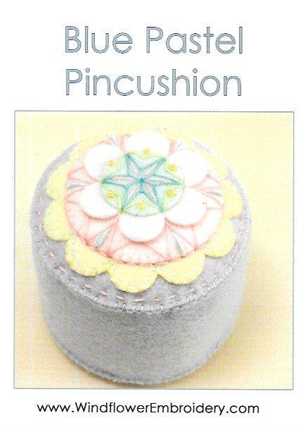 Blue Pastel Pincushion