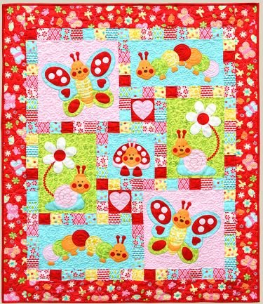Bugsy Red Quilt Kit