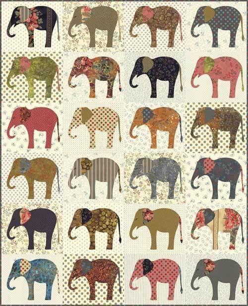Elephants pattern