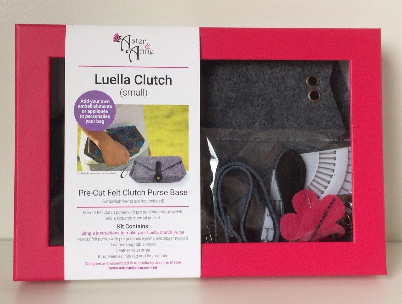 Aster & Anne Felt Bag Kit - Luella Clutch small
