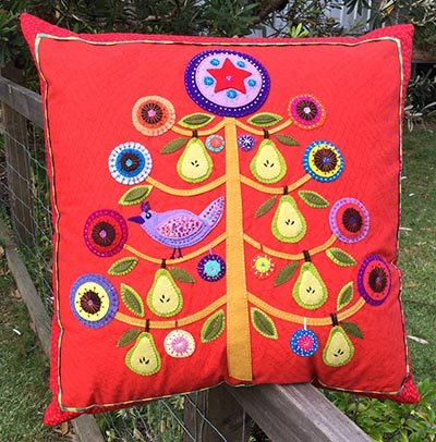 Wendy Williams : Partridge in a Pear Tree - Cushion Pattern