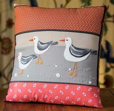 Wendy Williams : Seaside Cushion Seagull - Fabric Pack