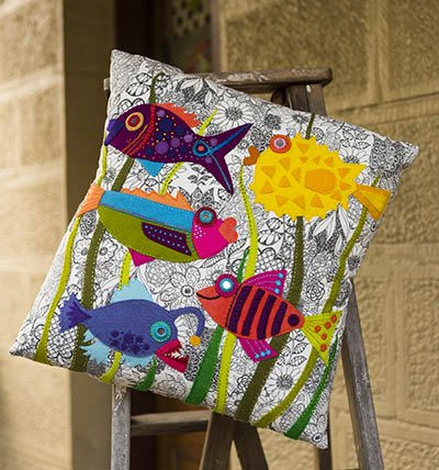 Wendy Williams : Something Fishy - Cushion Pattern