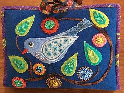 Wendy Williams : Woolly Zip It Bag Bird/Dragonfly - Kit