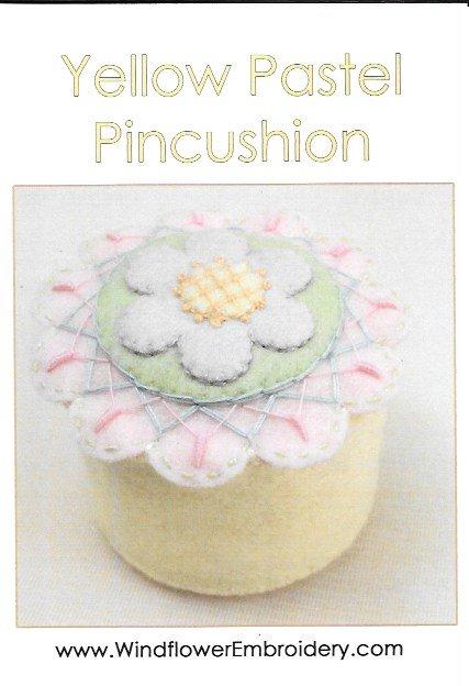 Yellow Pastel Pincushion