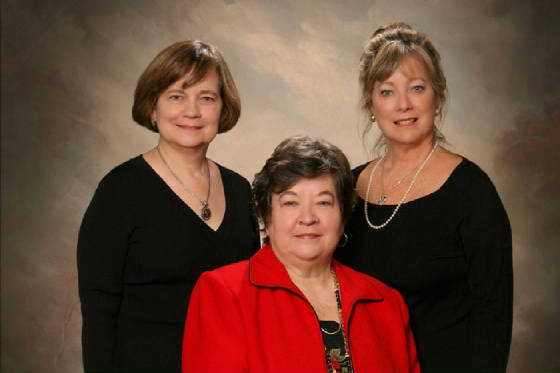 Margaret, Diane, and Leigh