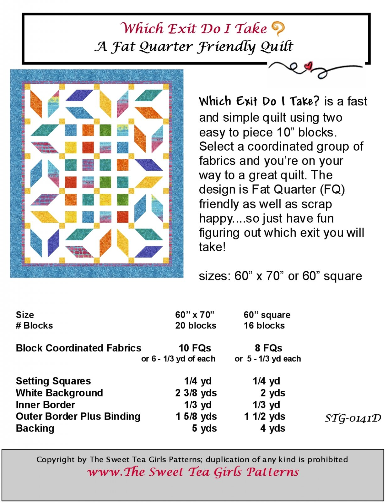 Which Exit Do I Take? Downloadable PDF Pattern