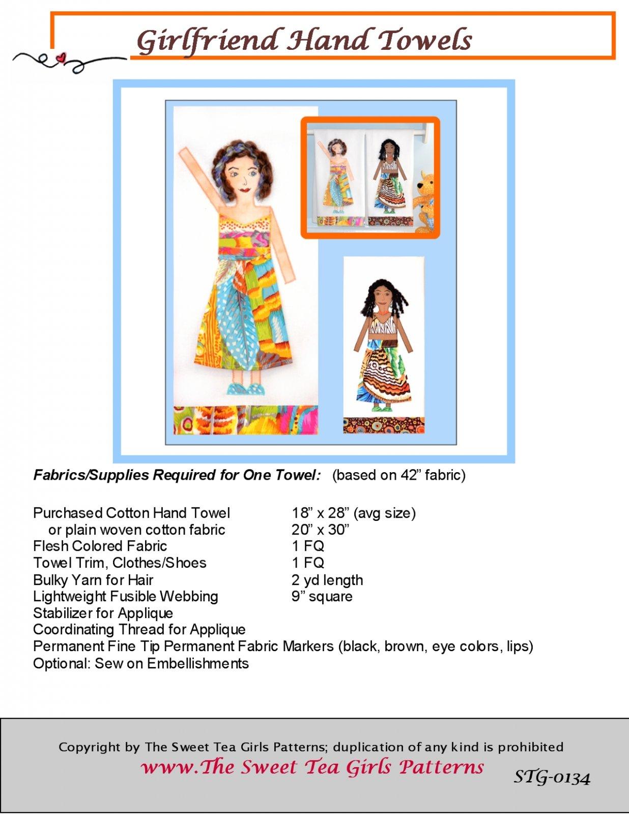 Girlfriend Hand Towels - Downloadable PDF