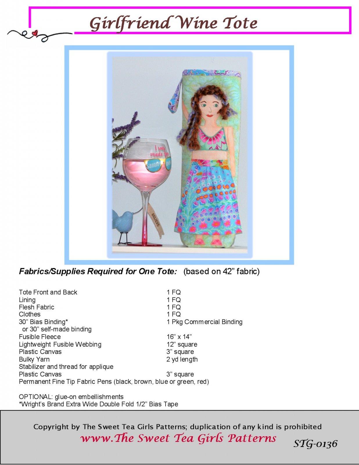 Girlfriend Wine Tote - Downloadable PDF