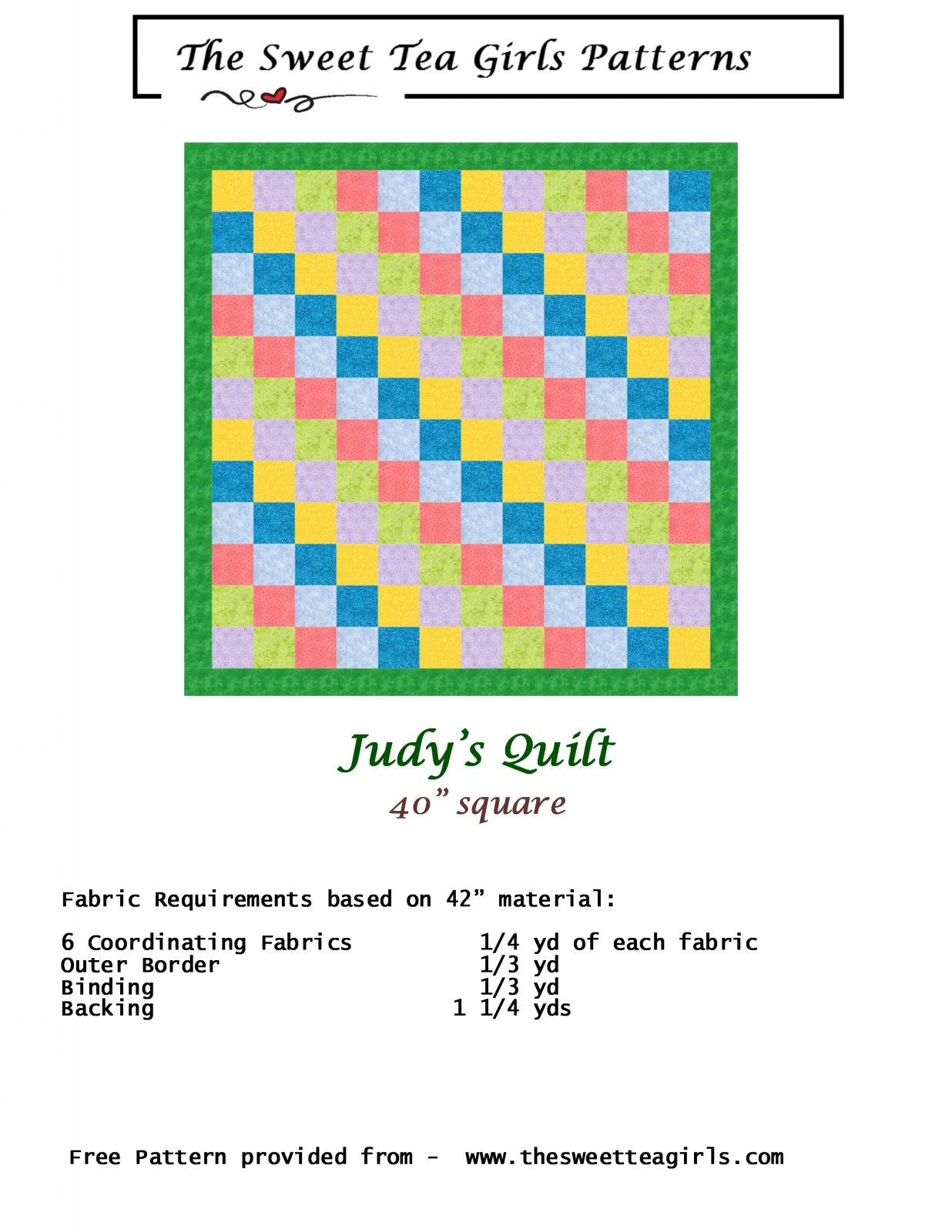 Judy's Quilt for Prayers