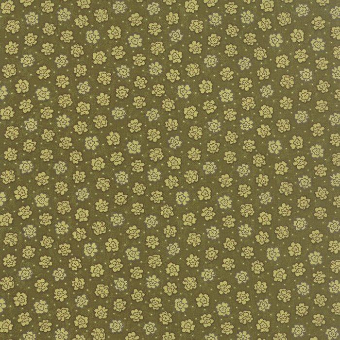 Moda Prints Charming -  Dark Olive Flowers 17847-15