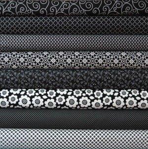 Black and White Fabric Bundle