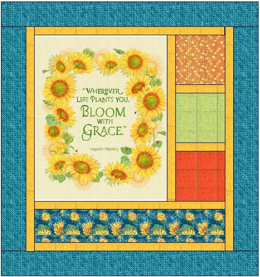 Solana Panel Quilt 64 x 67 inches