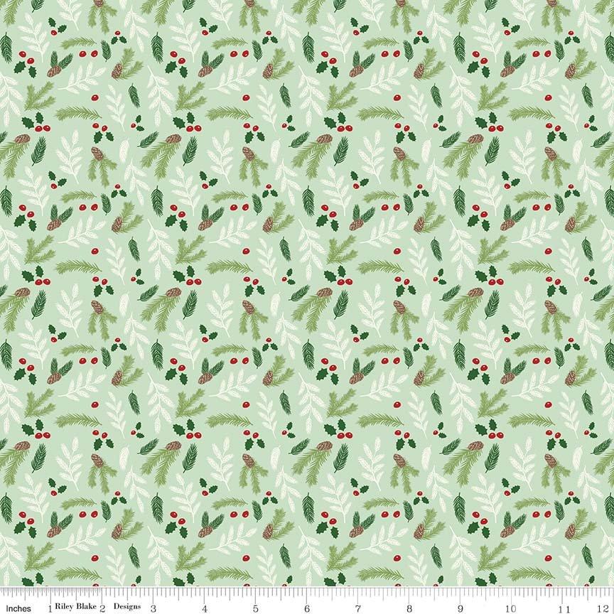 Comfort and Joy - Floral Light Green C6266-LTGREEN