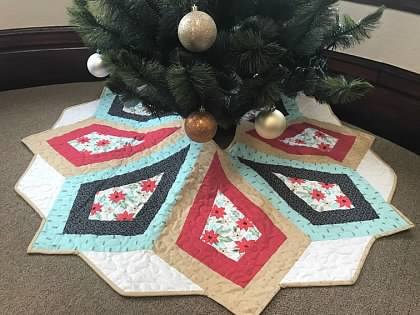 Quilt Kit * Christmas Magic Tree Skirt * 52 x 52 inches