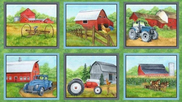 Green Mountain Farm panel by Wilmington