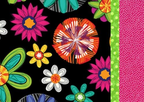 Pillowcase Kit - Black Flower