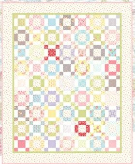 Quilt Kit * Hopscotch * Full Size * Moda Fleurs Collection