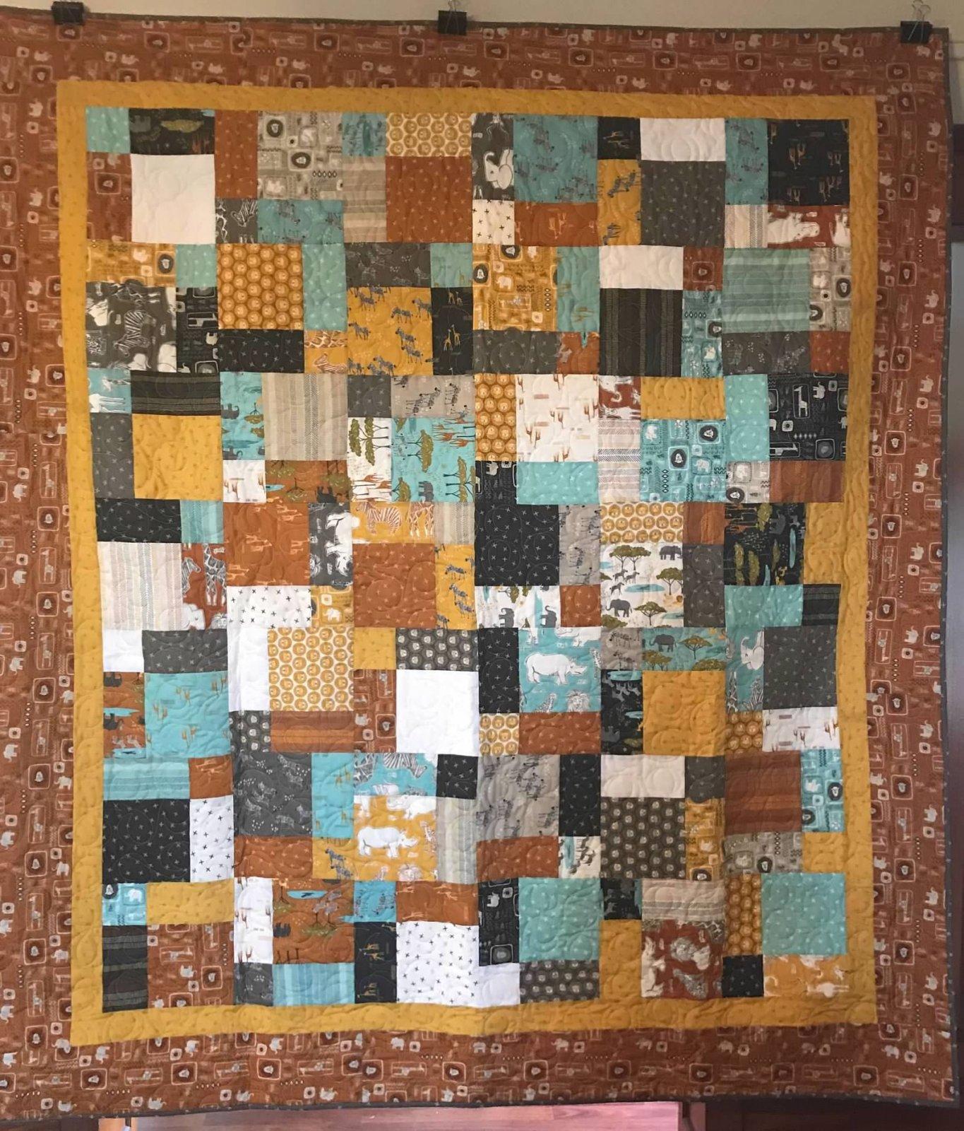 Safari Life Quilt Kit * 69 x 78 inches