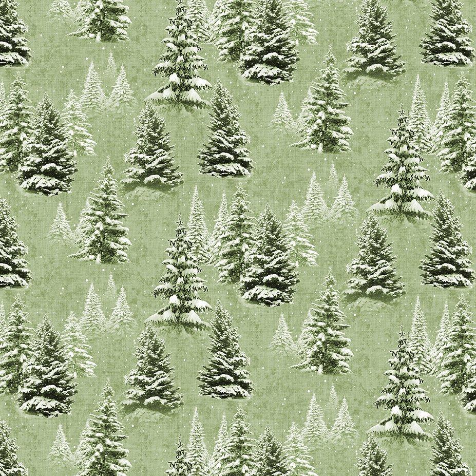 2021 Snow Trees - Light Olive Y3315-23