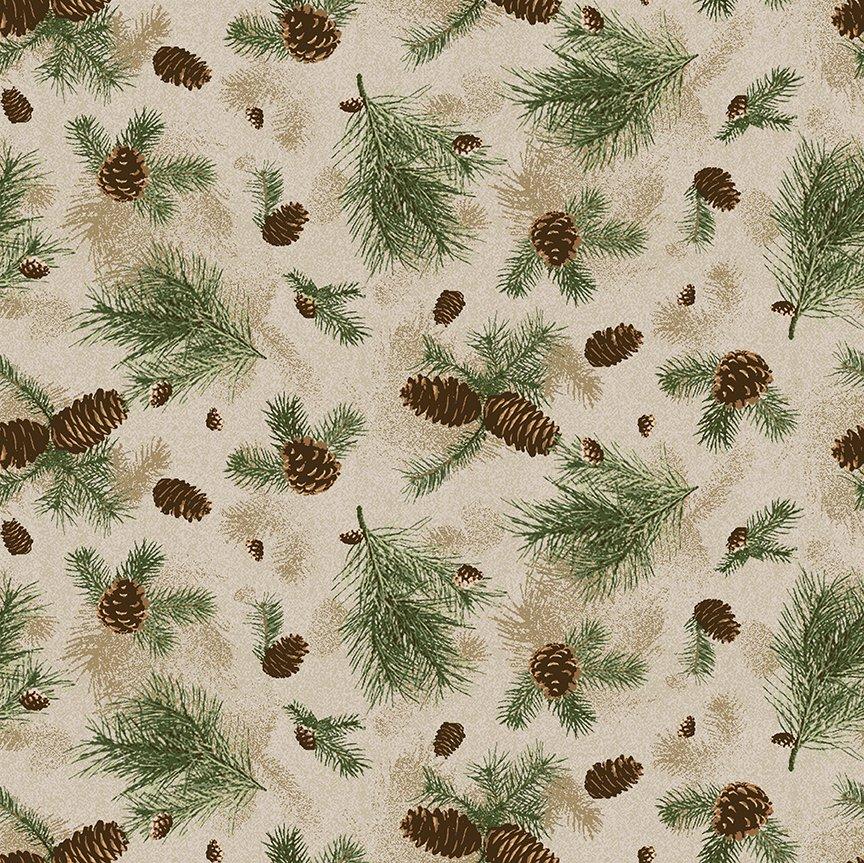 2021 Pine branches - Caramel Y3317