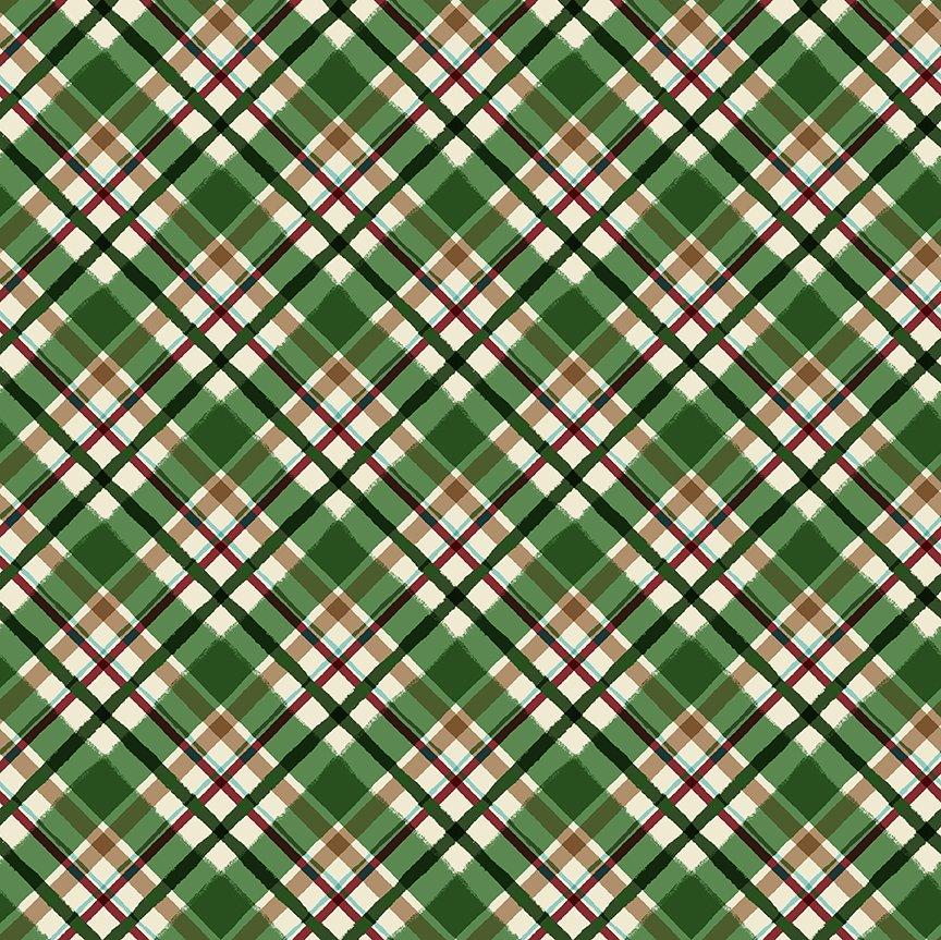 2021 Diagonal Plaid - Green Y3322-21
