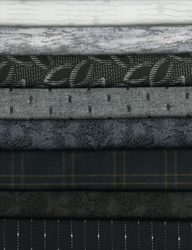 Yoko Saito - Centenary 22 - Fat Quarters (Black) cotton/woven 8
