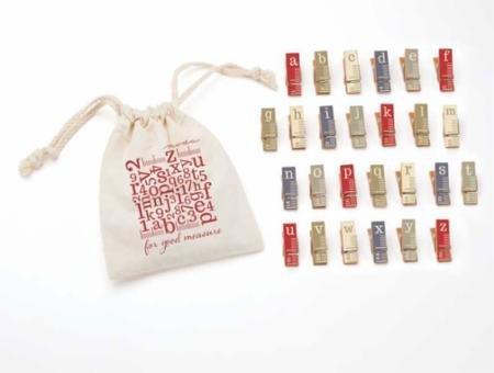 For Good Measure mini clothespins RedBlue