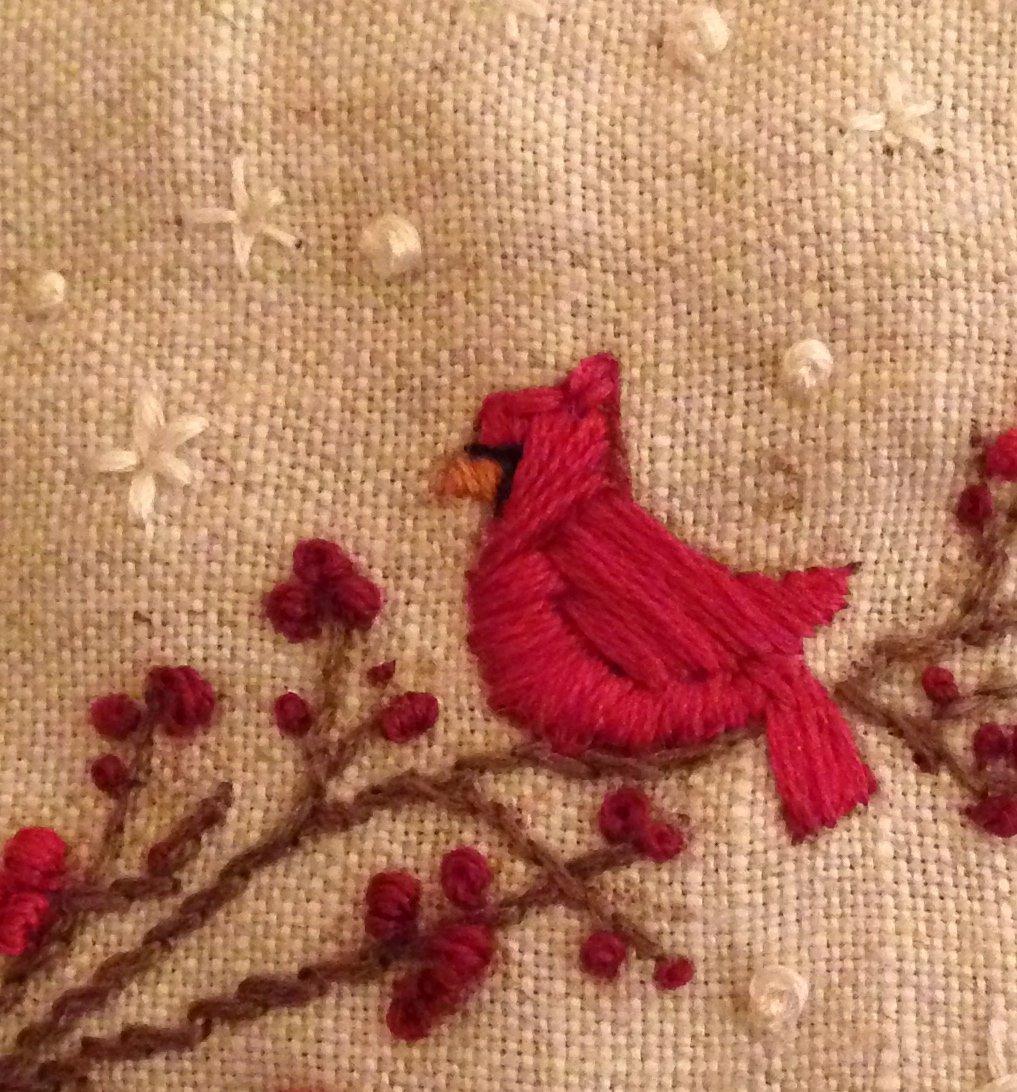 Free Cardinal on a Branch Pattern (Stitch Publications)
