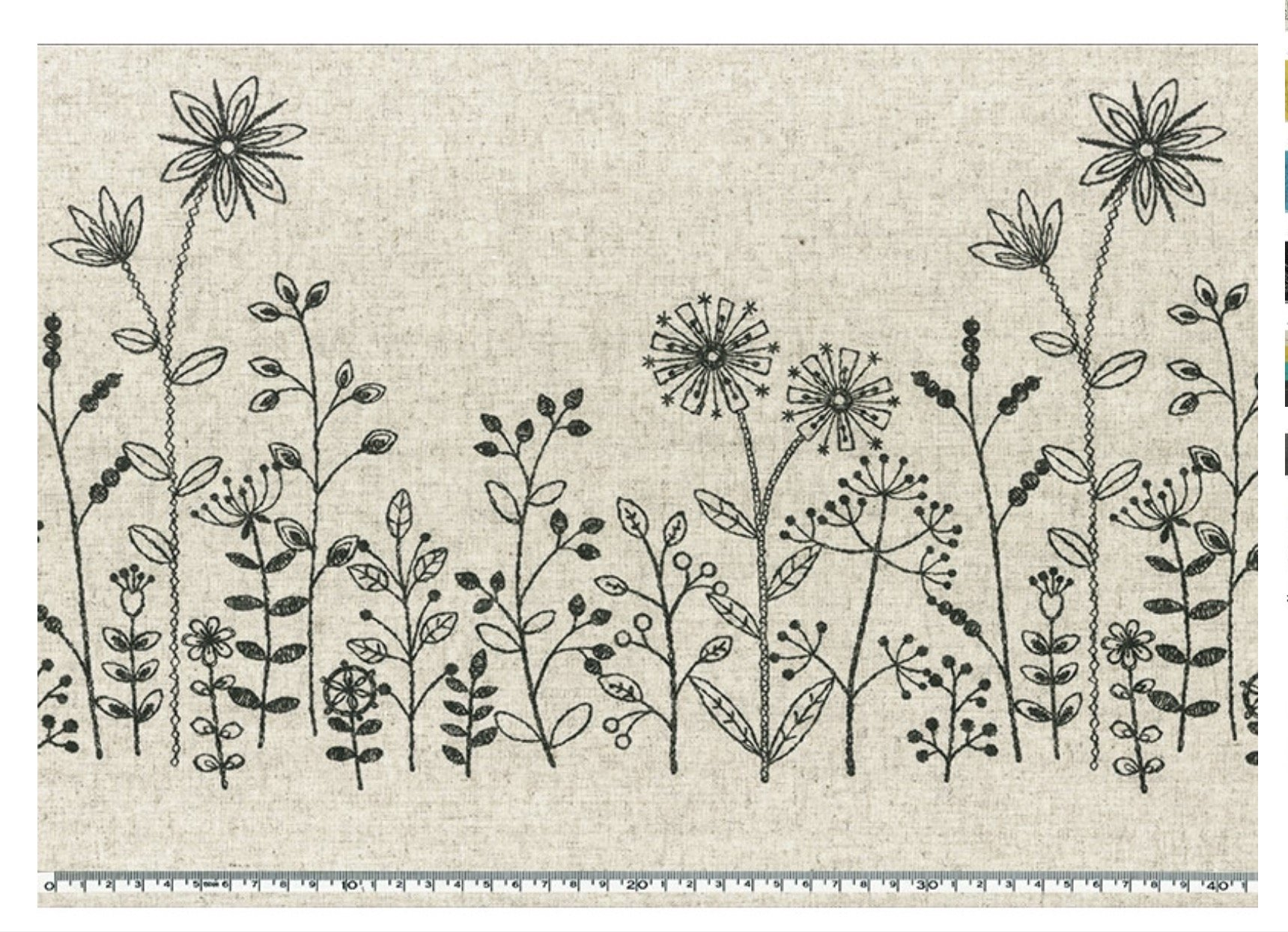 Yoko Saito Collection - Embroidery Border Print - Etoffe Imprevue 2017