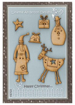 Lynette Anderson Designs - Happy Christmas Buttons