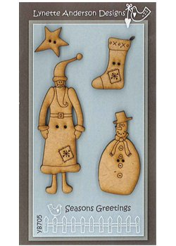 Lynette Anderson Designs - Seasons Greeting Buttons