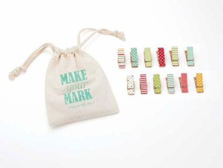 Make Your Mark mini clothespins Brights