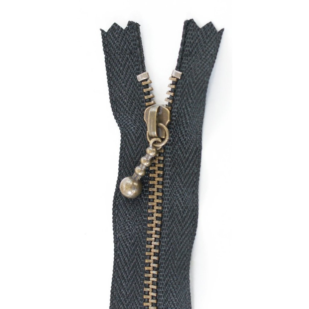 20 cm [8] Ball Pull Zipper (black)