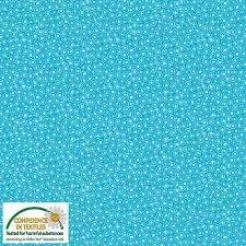 Stof Quiltcombi Circles 4518-010Turquoise