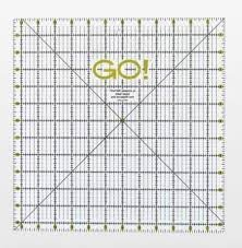55475 accuquilt GO! Quilting Ruler 12-1/2 X 12-1/2