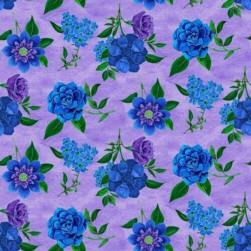 1421-50 Luna Garden Spaced Floral Lt Purple