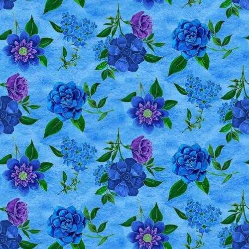 1421-70 Luna Garden Spaced Floral Lt Blue