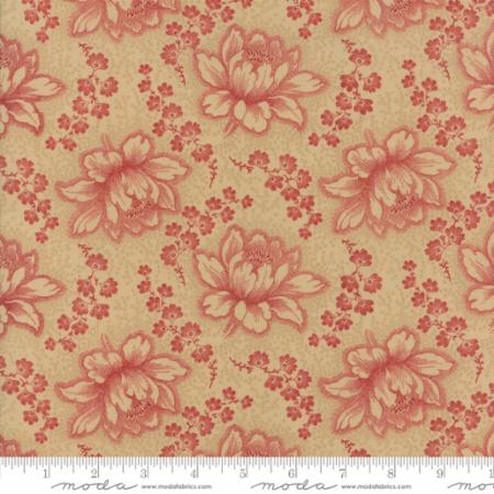 14850 12 Farmhouse Reds Floral Etched Tan Red Minick Simpson
