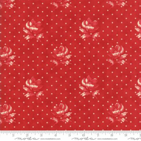14851 11 Farmhouse Reds Floral Polka Dot Flowers Red Minick Simpson