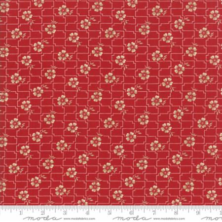 14852 11 Farmhouse Reds Floral Floral Grid Red Minick Simpson