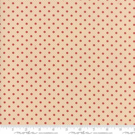 14855 13 Farmhouse Reds Floral Dots on Dots Tan Red Minick Simpson