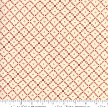 14857 13 Farmhouse Reds Floral Lattice Ivory Red Minick Simpson