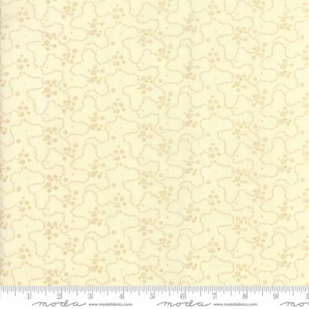 14858 23 Farmhouse Reds Floral Meandering Dots Ivory Minick Simpson