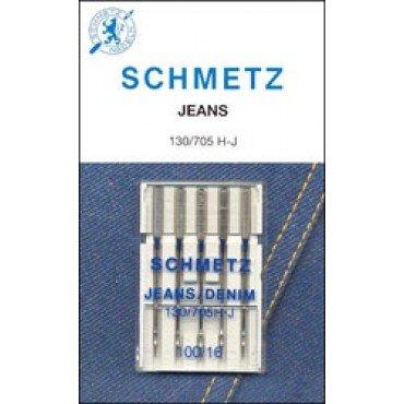 #1712 Schmetz Machine Needle Denim 5 Pk Sz 16/100