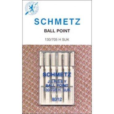 #1714 Schmetz Machine Needle Ball Point 5 Pk Sz 80/12